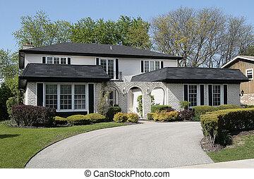 家, 由于, 磚, 拱形, 進入, 方式