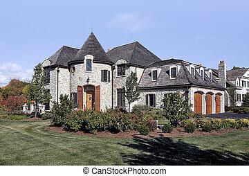 家, 石, ヒマラヤスギ, 贅沢, 振動