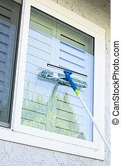 家, 窓の 洗浄