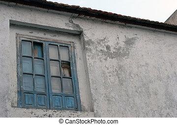 家, 窓, 古い