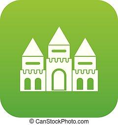 家, 緑, デジタル, 城, 子供, アイコン