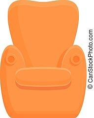 家, 肘掛け椅子, 漫画, スタイル, アイコン, 保温カバー
