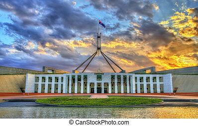 家, 議会, オーストラリア, canberra