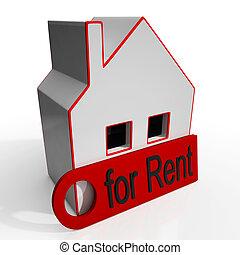 家, 賃貸料サインのために, 提示, 使用料