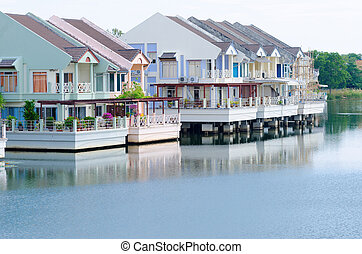 家, 贅沢, 湖