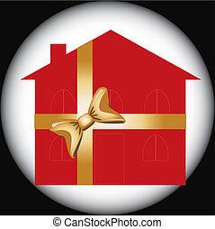 家, 赤, 贈り物