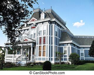 家, anne, 女王, victorian, 3階建てである