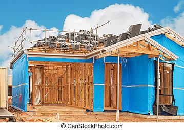 家, currently, 建設 中