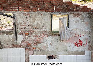 家, demolished