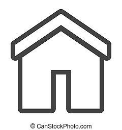 家, grayscale, 輪郭, アイコン
