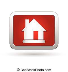 家, icon., ベクトル, イラスト