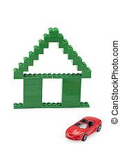家, lego, 自動車