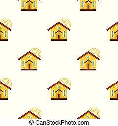 家, seamless, パターン