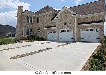 家, tennesee, 3, 自動車, ガレージ