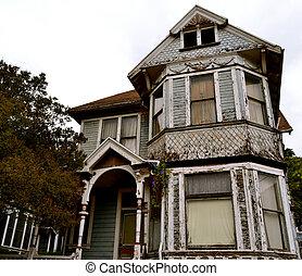 家, victorian, 古いスタイル