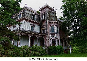 家, victorian, 捨てられた