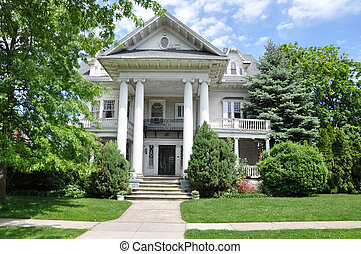 家, victorian 様式, 郊外