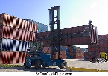 容器, 港, 出荷