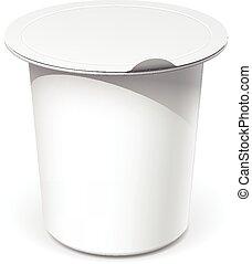 容器, 食物, プラスチック, 現実的, ブランク, 白