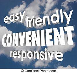 容易である, 敏感, 雲, 3d, 空, 便利, 言葉, 味方