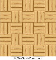 寄せ木張りの床