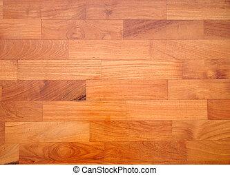 寄せ木張りの床, 床材