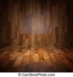 寄せ木張りの床, 背景, 木