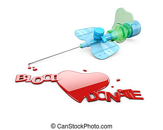 寄付, イラスト, 血, を除けば, 3d, 生活
