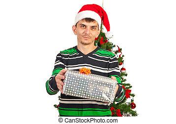 寄付, クリスマスの ギフト, 人