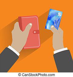 寄付, クレジットカード, 手