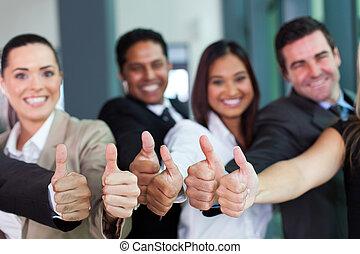 寄付, グループ, 親指, ビジネス, の上