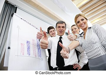 寄付, シニア, プレゼンテーション, ビジネス男