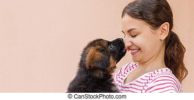 寄付, 友情, 接吻, ∥間に∥, 女の子, 子犬, 本当