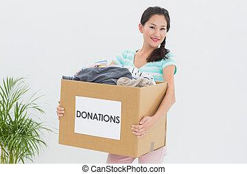 寄付, 女, 若い, 衣服