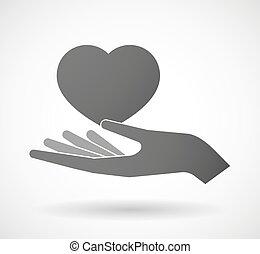 寄付, 心, 手