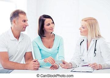寄付, 患者, 丸薬, 医者