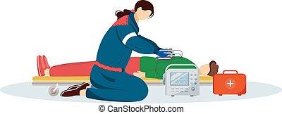 寄付, 患者, 医療補助員, reanimation, 医者, 白, 傷つけられる, 緊急, 隔離された, 緊急事態, ...