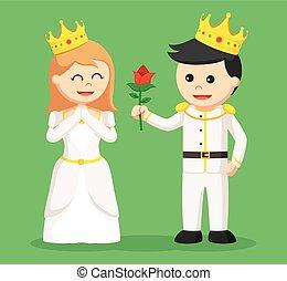 寄付, 花, 王子, 王女
