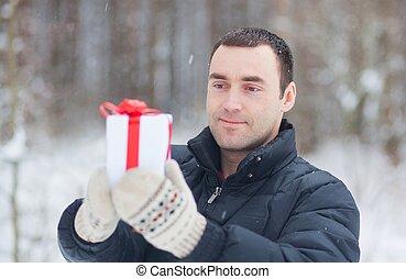 寄付, 若い, 贈り物, 人