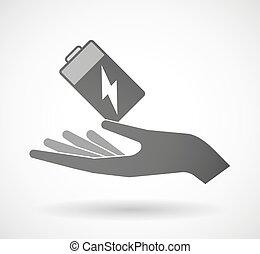 寄付, 電池, 手