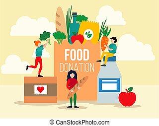 寄付, 食物, デザイン