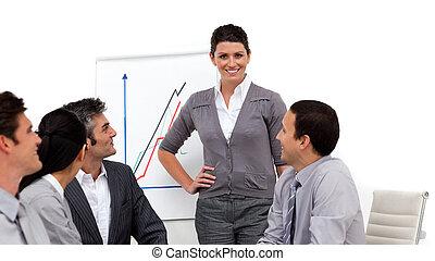寄付, 魅了, プレゼンテーション, 女性実業家