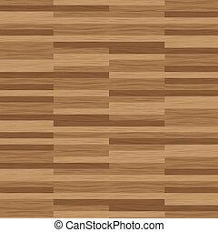 寄木細工の床の 床, 木製の肉質