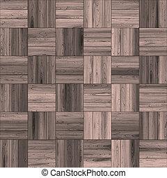 寄木細工の床の 床