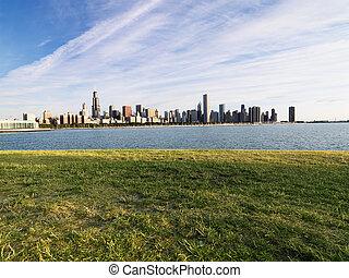 密執安, 湖, chicago.
