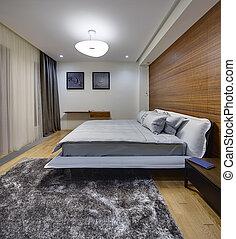 寝室, 中に, a, 現代, スタイル