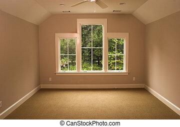 寝室, 二階に, 光景
