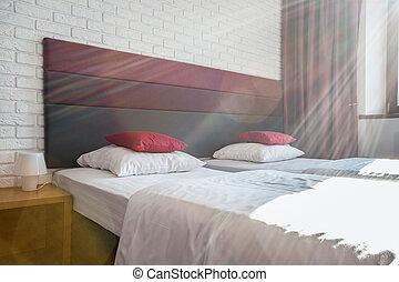 寝室, 朝
