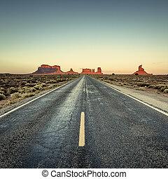 察看, 在中, 道路, 对于, 纪念碑山谷
