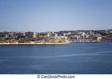 察看, 在中, valletta, 城市, 在中, malta.